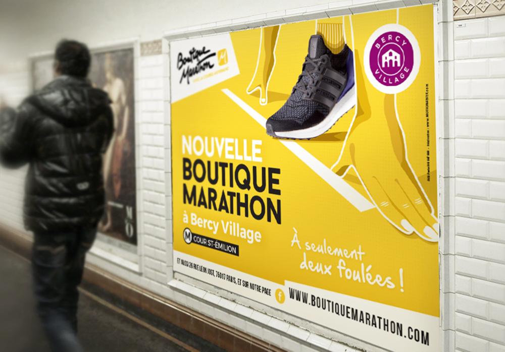 Campagne Affichage Boutique Marathon